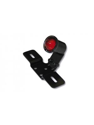 [255-064] LED-bakljus OLD SCHOOL TYP3, svart, rött glas, med Nr.-Schildhållare