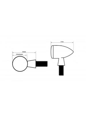 [254-171] LED-bakljus-/blinkers APOLLO BULLET