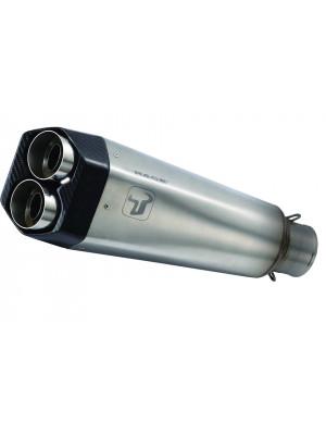 [WY 9662] M9 rostfritt helsystem ljuddämpare, svart, Yamaha MT-07
