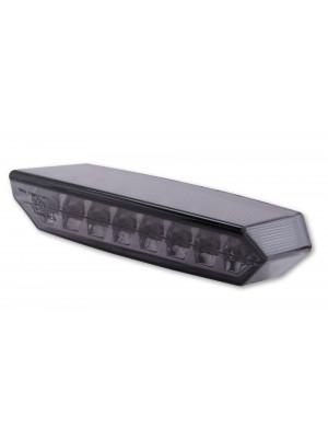 [255-042] LED-bakljus BOSTON, svart Basplatta, rökfärgat glas