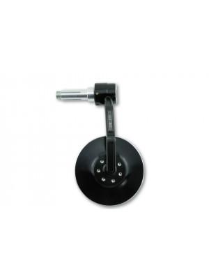 [301-038] Styrändsspegel CONERO med LED blinkers, svart anodiserat