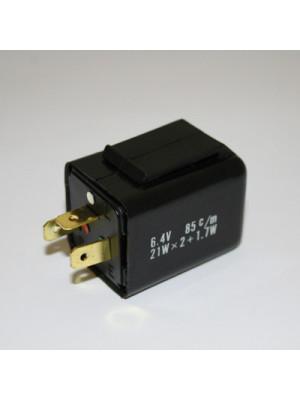 [208-015] Blinkersrelä, 3-pol, elektroniskt 6 V