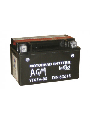 [297-208] Bike Power battery CTX 7A-BS, maintenance-free -incl. acid-package