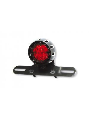 [255-155] LED-bakljus MILES, svart hus, rött glas