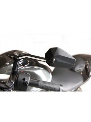 [301-452] Spegel STEALTH -X3 med LED positionslampa, svart