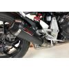 [091-6089] TAKKONI rostfritt helsystem ljuddämpare, svart, Honda CB 125 R, 18-