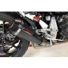 [091-9609] TAKKONI rostfritt helsystem ljuddämpare, svart, Yamaha XSR 700 17-18