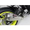 [OY 962 RR] RC1 rostfritt helsystem ljuddämpare, svart, Yamaha MT 07, 14-