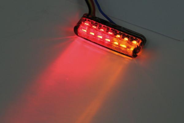 [254-071] LED bakljus-/blinkers SHORTY, rökfärgat glas