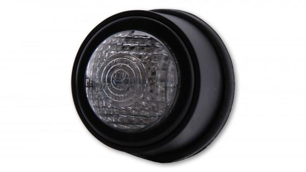 [255-056] LED-bakljus OLD SCHOOL TYP2, svart, transparent glas, E-märkt