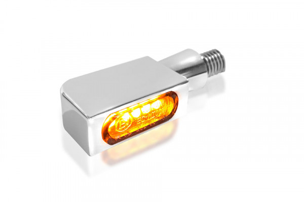 [203-6988] BLOKK-Line Series MICRO SMD Turn Signal, Multifit all makes and models, chrome