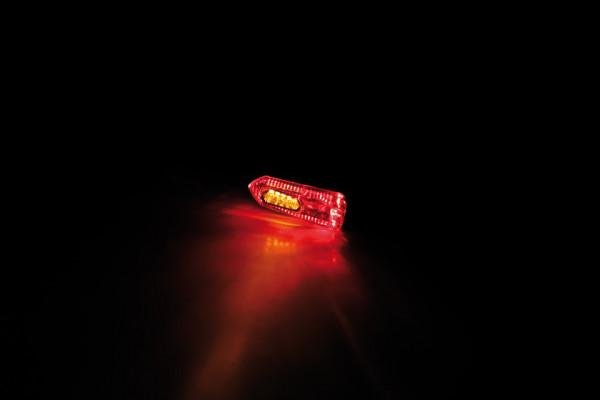 [254-078] LED bakljus-/blinkers ARROWHEAD, röd/rökfärgat