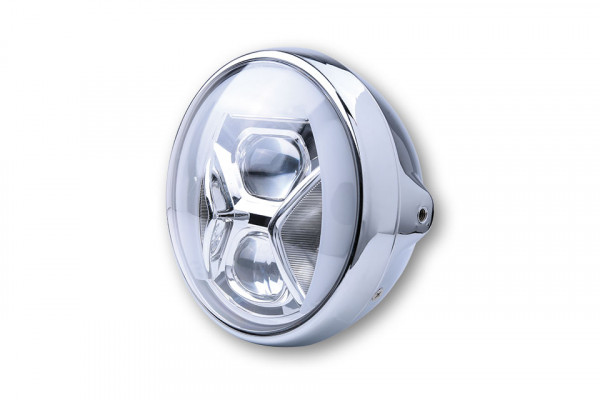[223-236] 7-inch LED headlight BRITISH-STYLE TYPE 8 with TFL, bend lighting