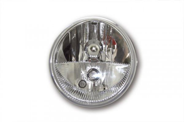 [223-045] Universal strålkastare OVAL med positionsljus, svart, 12V H9+H11, E-märkt