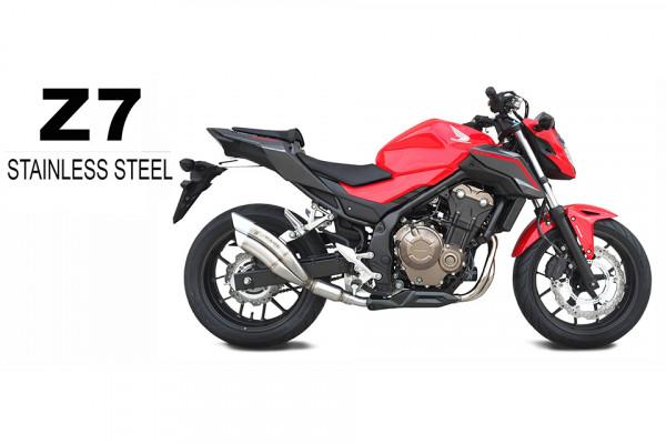 [QH 6356] 2 rostfritt helsystem ljuddämpare, svart, Honda CB 650 F/CBR 650 F, 14-
