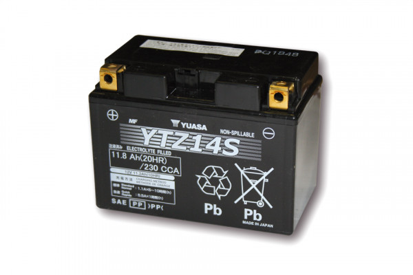 [291-316] Batteri YTZ 14 S underhållsfritt (AGM) fyllt, 11,2Ah