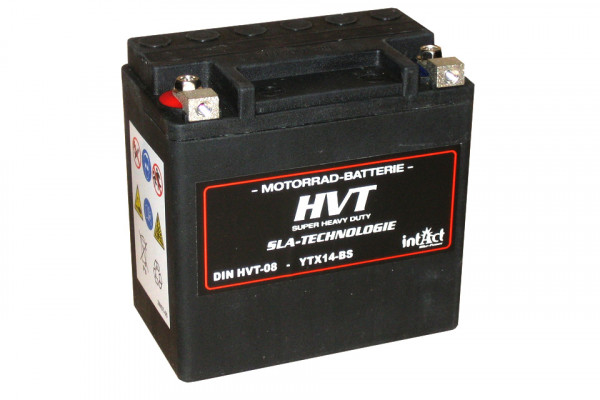 [298-214] Bike Power batteri HVT YTX14-BS, fyllt och laddat