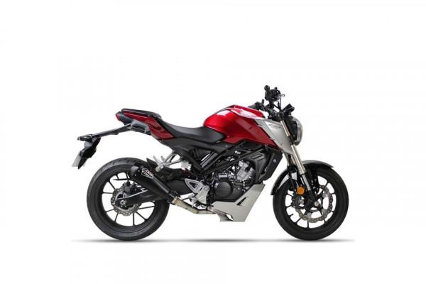 [063-608B] IXIL RC1 rostfritt helsystem ljuddämpare, svart, Honda CB 125 R, 18-
