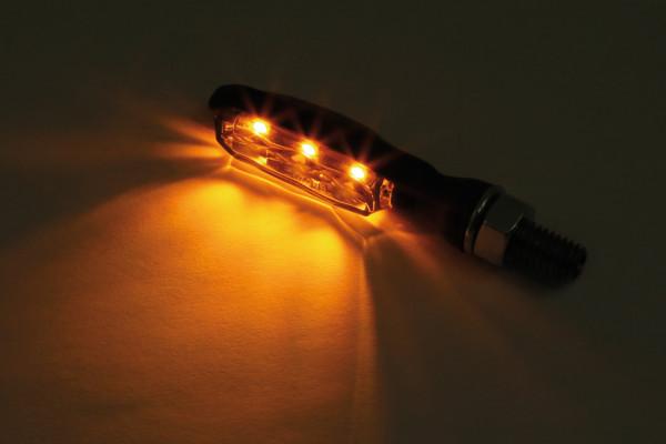 [204-270] HIGHSIDER LED-blinkers SONIC-X1, svart