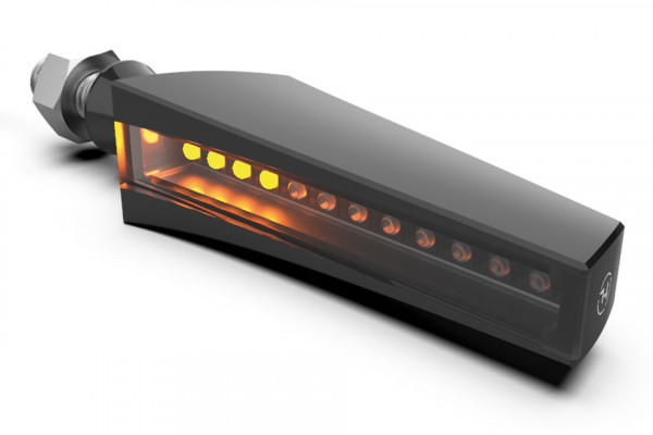 [203-221] LED sequence indicator STS 1, black housing, tinted glass.