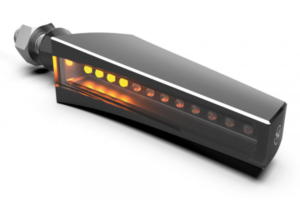 [203-220] LED sequence indicator STS 1, black 2C housing, tinted glass.