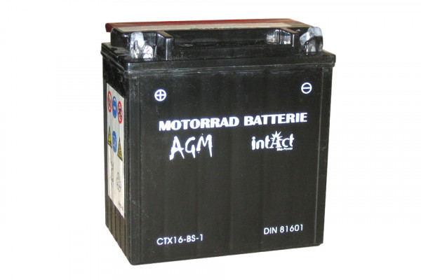 [297-219] Bike Power battery CTX 16-BS-1, maintenance-free -incl. acid-package