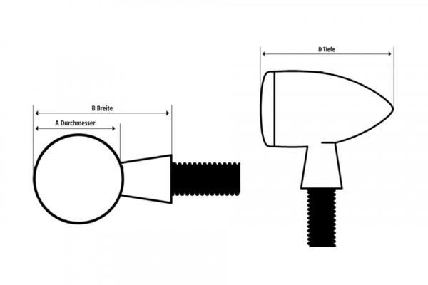 [HH68-7011B] H-D Modell blinkers svart