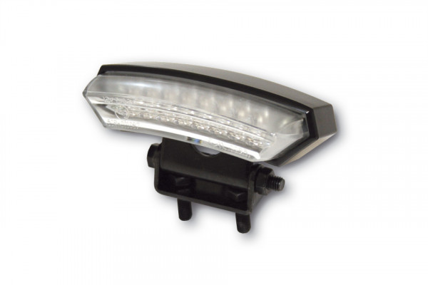 [255-625] LED-Mini-bakljus MONZA, svart hus, m. regskyltsbelysning