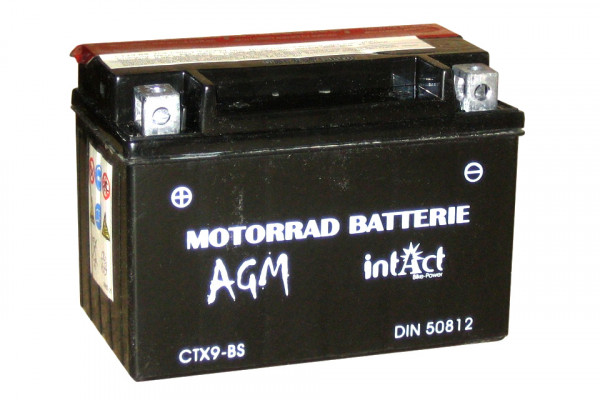 [297-209] Bike Power battery CTX9-BS, maintenance-free -incl. acid-package