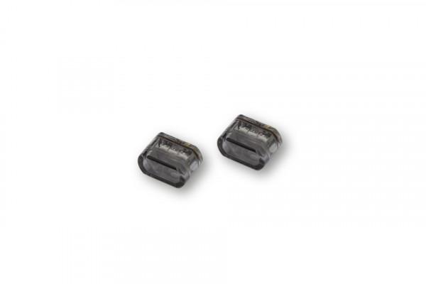 [204-148] LED-blinkers MODUL 2, oval, rökfärgat, för inbyggnad.