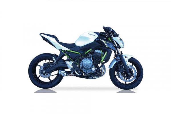 [175-753] Hyperlow svart XL-rostfritt helsystem ljuddämpare, Kawasaki Z 650/650 Ninja, 17-