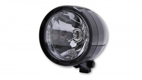 [223-008] ABS strålkastare med positionsljus, svart, HS1, bottenmontering