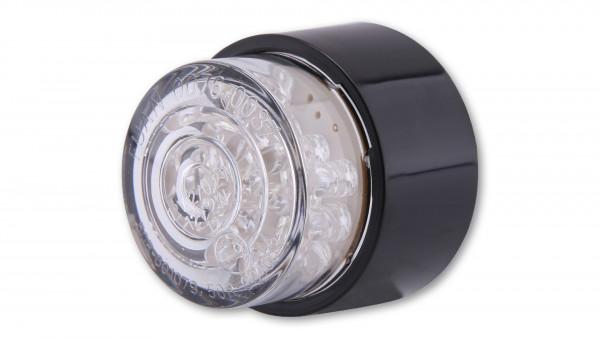 [255-849] LED-Mini-bakljus BULLET, rund med svart hus