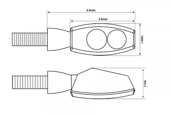 [203-178] LED sekvens-blinkers D-LIGHT STELLAR