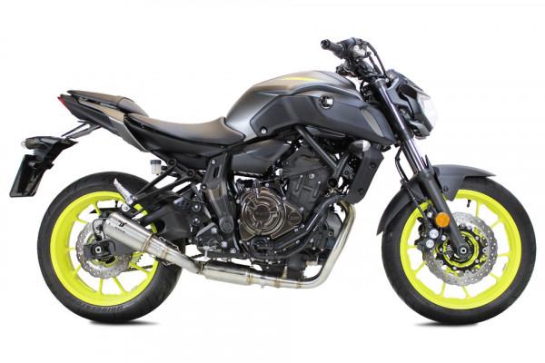 [064-962.v] MK2 rostfritt helsystem ljuddämpare, svart, Yamaha MT 07, 14-