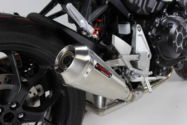 [OH 608] Rostfritt helsystem ljuddämpare, svart, Honda CB 125 R, 18-