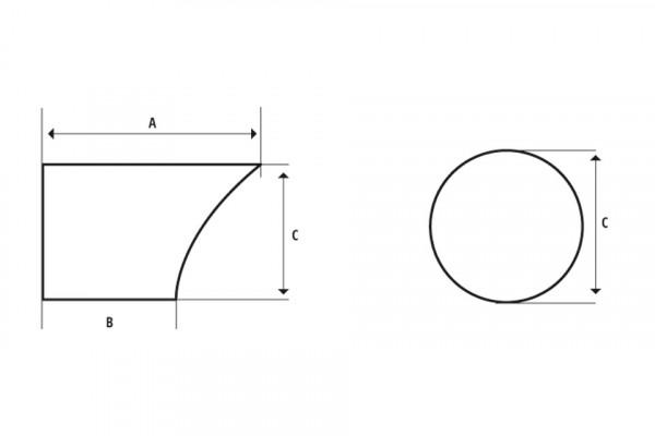 [255-842] LED-Mini-bakljus med Nummernsch transp., rund