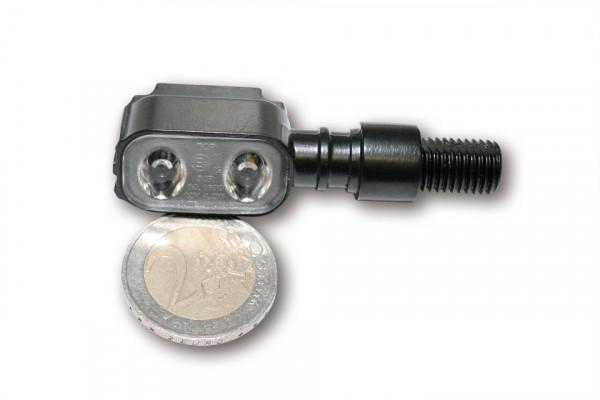 [254-040] LED bakljus-/blinkers MX-1, svart Metallhus