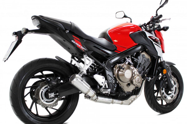 [064-656.v] MK2 rostfritt helsystem ljuddämpare, svart, Honda CB 650 F/CBR 650 F, 14-