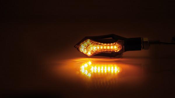 [204-222] LED-blinkers HATCH, svart hus