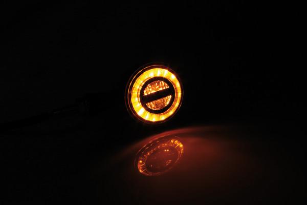 [204-346] LED turn signal ROCKET BULLET, black