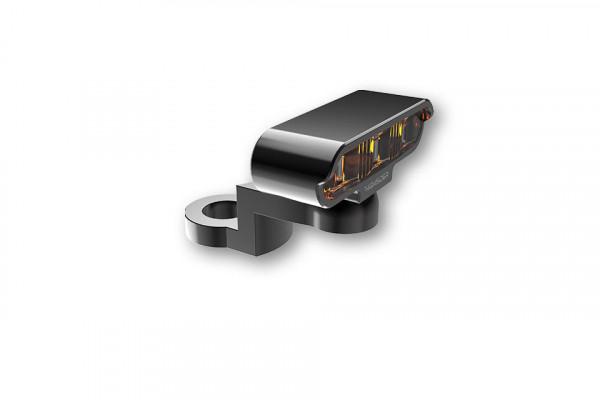 [204-114] LED blinkers med CNC spegelfäste TYP 2, svart