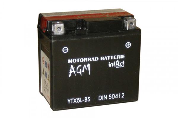 [297-217] Bike Power battery CTX 5L-BS, maintenance-free, incl. acid-package