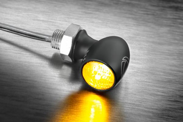 [200-264] LED-blinkers Bullet Atto Dark, tonat glas