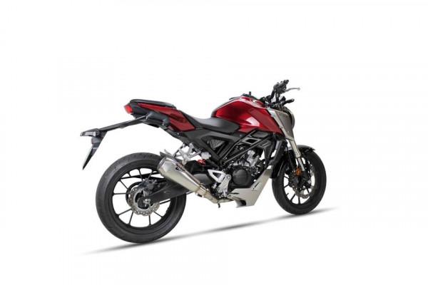 [OH 608 RR] RC1 rostfritt helsystem ljuddämpare, svart, Honda CB 125 R, 18-