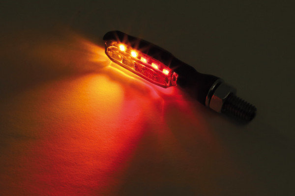 [254-270] LED-bakljus-/blinkers SONIC-X1, svart, rökfärgat