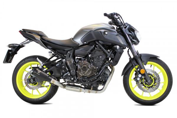 [064-962B] MK2 rostfri helsystem, svart, Yamaha MT 07, 14-