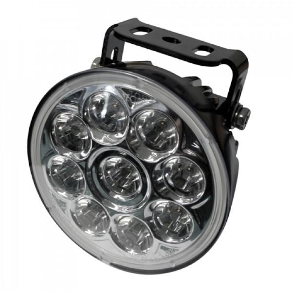 [222-21] LED-helljusstrålkastare insats, svart reflektor