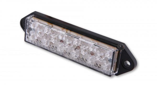 [255-082] LED-bakljus, SUPERFLAT, klarglas, med fästflikar, E-märkt