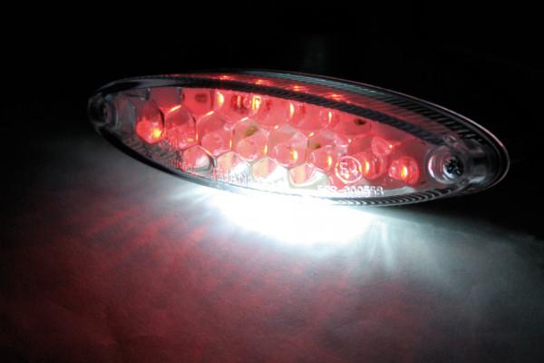 [255-977] LED-Mini-bakljus NUMBER1, med regskyltsbelysning, klart glas.